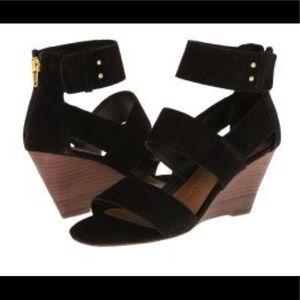 DV Dolce Vita Black Wedge Sandal (Size 8.5)